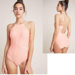 Anthropologie High-Neck One-Piece Swimsuit